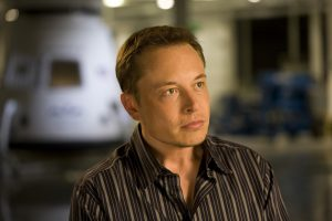 Founder of PayPal, Tesla motors and SpaceX, entreprenour Elon Musk.