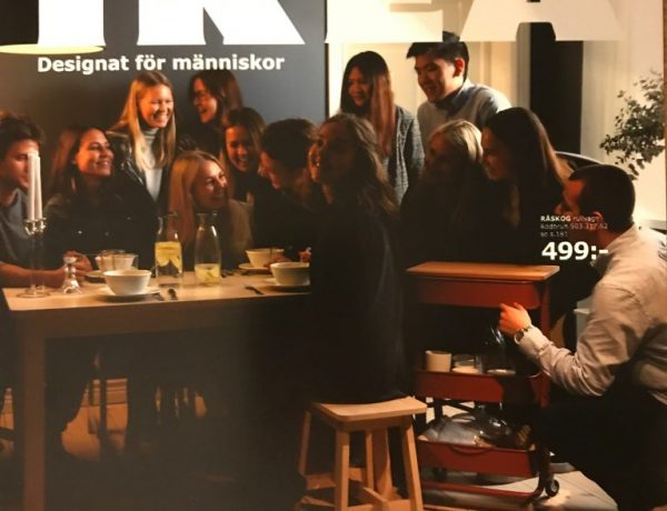 In the museum, visitors are able to get a printed picture in te settings of an IKEA catalogue.